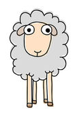 Funny sheep — Stock Vector