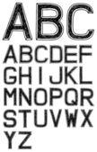 Hand drawn font — Stock Vector