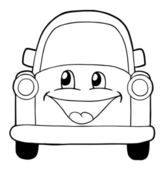 Cute car — Stock Vector