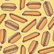 Stock Vector: Pattern of hot dogs, vector illustration