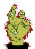 Hand of zombie — Stock Vector