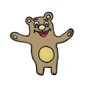Urso fofo — Vetor de Stock