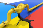 Russia-Ukraine gas crisis — Stock Photo