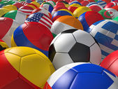 Soccer balls BG. — Stock Photo