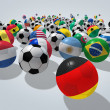 Soccer balls concept — Stock Photo