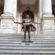 Naked Statue Of Emperor Trajan, Bucharest, Romania - ストック写真