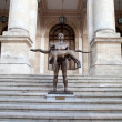 Naked Statue Of Emperor Trajan, Bucharest, Romania - Foto Stock