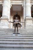 Naked Statue Of Emperor Trajan, Bucharest, Romania — Stock Photo