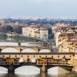 Florence, View Of Ponte Vecchio - Stock Photo