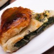 Piece Of Italian Pie With Chard - Stock Photo