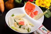 Smoked Salmon, Fennel, Pears And White Cheese Salad — Stock Photo