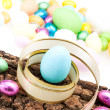 Arrangement With Chocolate Eggs — Stock Photo