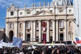 Papst Francis Installation Zeremonie — Stockfoto