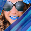 Blue Summer Trend - Stock Photo