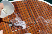 Washing The Deck — Stock Photo