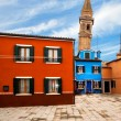 Leaning Tower In Burano Island — Stock Photo