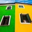 Strong Contrast, Burano Italy — Stock Photo