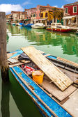 Boat On Canal In Murano — Foto Stock