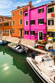 Detail Of Canal In Burano Island — Stock Photo