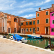 Old Buildings In Burano — Stock Photo