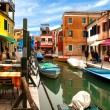 View Of Canal In Burano — Stock Photo