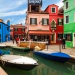 Riva Rosa Restaurant In Burano, Italy — Stock Photo