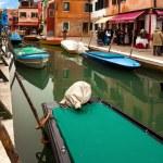 Boats In Burano — Stock Photo