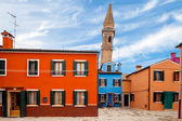 Leaning Tower In Burano — Stock Photo