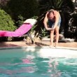 Funny MJumping In Water — Stock Video #27508011