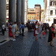 In front of Pantheon , Rome, Italy — Stock Photo