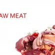 Raw Meat Mixed — Stockfoto