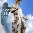 St. Michael - Statue By Raffaello da Montelupo — Stock Photo