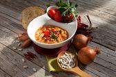 Sopa de purê de feijão — Fotografia Stock