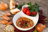 Zupa z białej fasoli — Zdjęcie stockowe