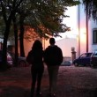 Couple Walking In The Evening — Stock Video