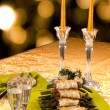 Holiday Table With Appetizers — Stock Photo #36722299