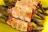 Asparagus Rolls With Ham And Puff Pastry — Foto de Stock