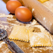 Homemade Agnolotti - Piedmont Pasta — Stock Photo