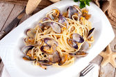 Spaghetti With Clams Recipe — Stock Photo