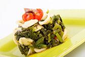 Orecchiette With Turnip Top — Stock Photo