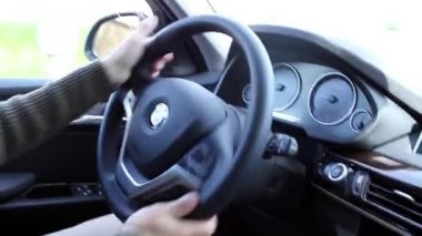 Driving A BMW Car — Stock Video