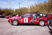 Red Lancia Delta HF Integral Martini Racing — Stock Photo