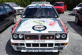 White Lancia Delta HF Integral Martini Racing — Stock Photo