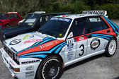 White Lancia Delta HF Integral — Stock Photo