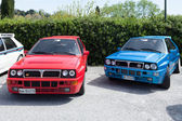 Lancia Delta HF Integral Cars — Stock Photo