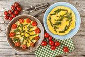 Asparagus Omelette — Stockfoto