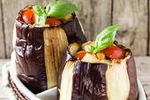Baked Eggplants Closeup — Stock Photo