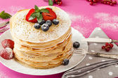 Soft Fruits Pancakes — Stock Photo