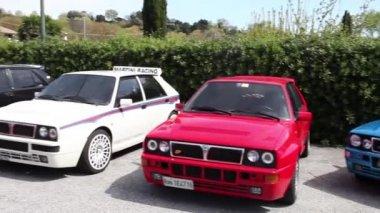 Lancia Delta Vintage Rally Cars — Stock Video