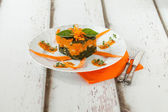 Pumpkin Chard Gnocchi Timbale — Stock Photo